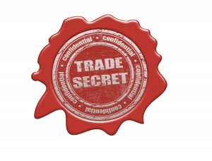Wax seal with the text trade secret, vector illustration